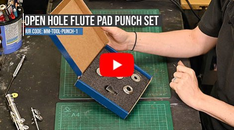 MusicMedic Open Hole Flute Pad Punch