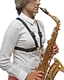 BG Saxophone Harness S41MSH - Female Size with Metal Snap Hook : Image 4