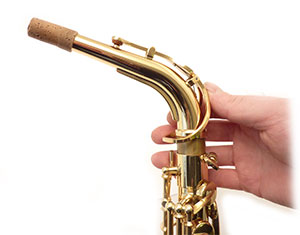 Saxophone crook fitting checked