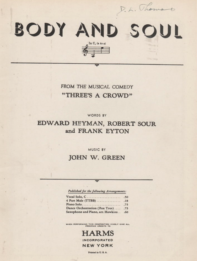 Sheet Music from Three's A Crowd