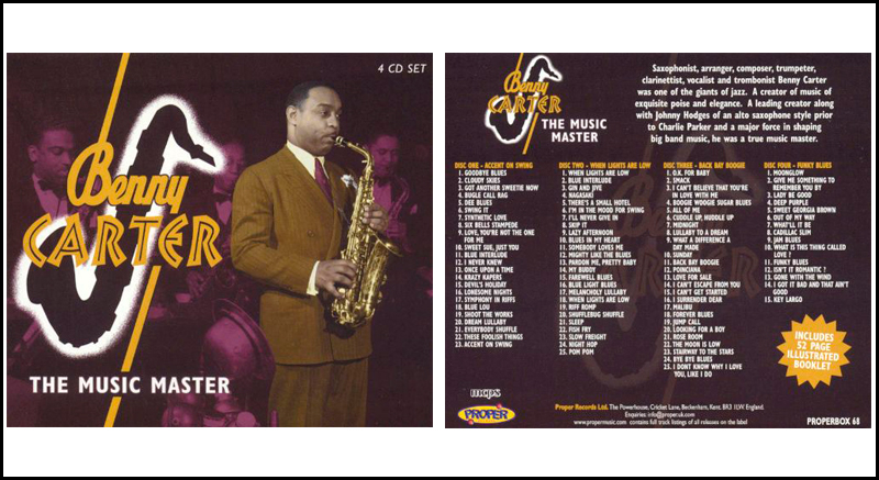 Benny Carter - The Music Maker 4CD Box Set