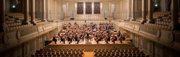orchestra in concert hall